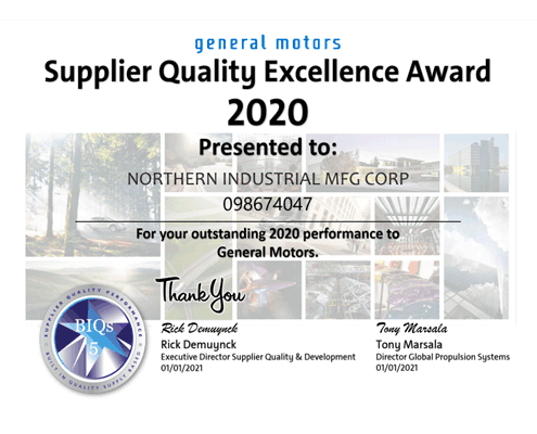 2020 gm supplier award